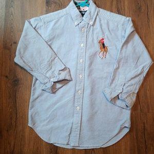 Ralph Lauren Boys Polo Blue Dress Shirt